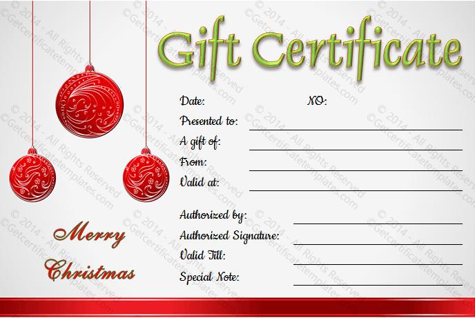 Christmas-Hanging-Balls-Gift-Certificate-Template (Editable Christmas Gift Certificate)