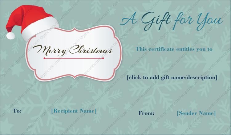 Christmas-SantaClaus-Cap-Gift-Template (Christmas Gift Certificate Idea)
