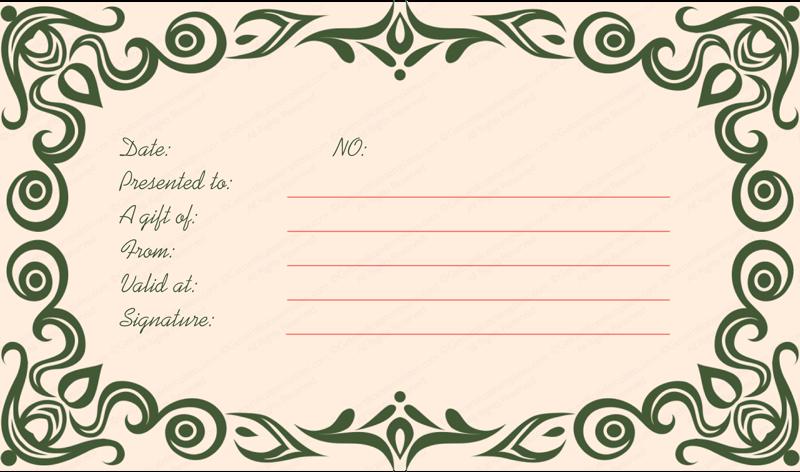 Christmas-Spirals-Gift-Certificate-Template (Christmas Gift Certificate Idea)