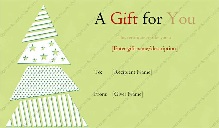 Christmas-Tree-Designed-Gift-Certificate (Christmas Gift Certificate Idea)