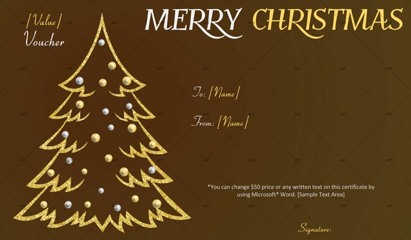 Christmas-Tree-Gift-Voucher (Christmas Restaurant Gift Voucher)