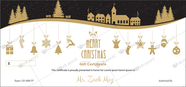 Christmas gift Certificate (Hill, Company Gift Certificate )
