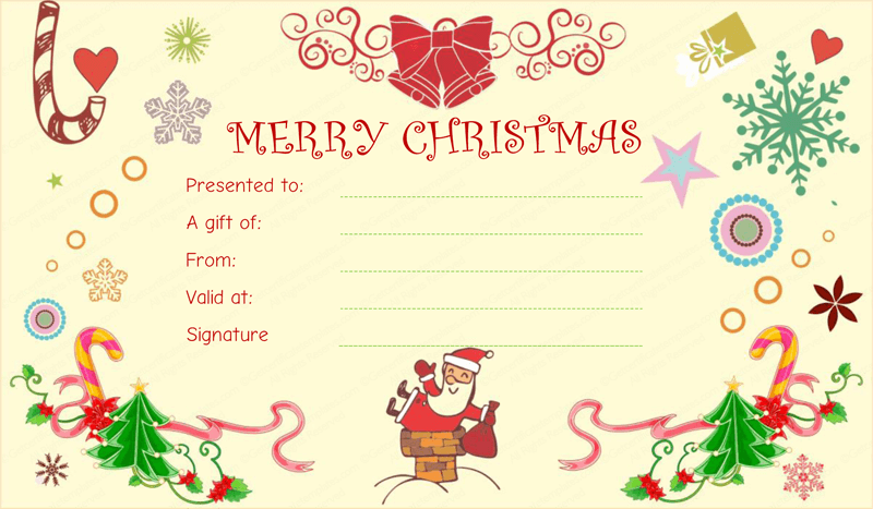Christmas-gift-giving-Gift-Certificate (Gift Certificate From Santa)