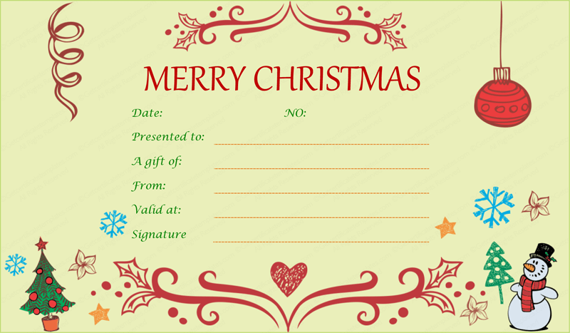 Event-Decorative-Christmas-Gift-Certificate (Christmas Gift Certificate Idea)