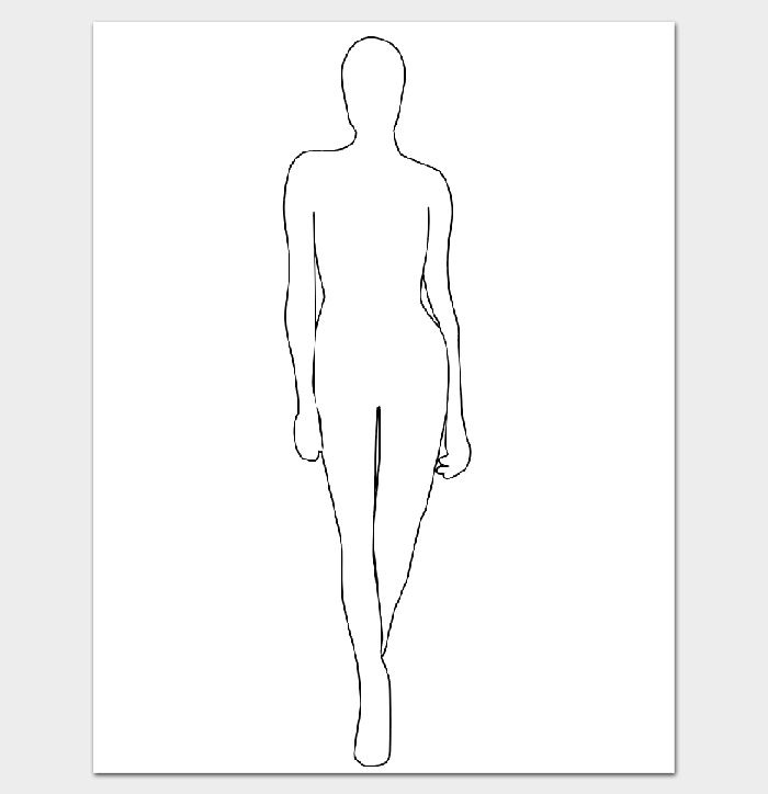 12 Human Body Outline Templates In Word Pdf Doc Formats