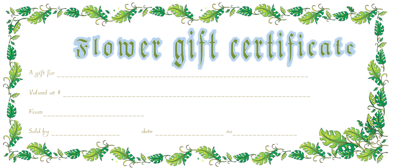 Holiday Gift Certificate-Template (Border, Printable Gift Card Template)