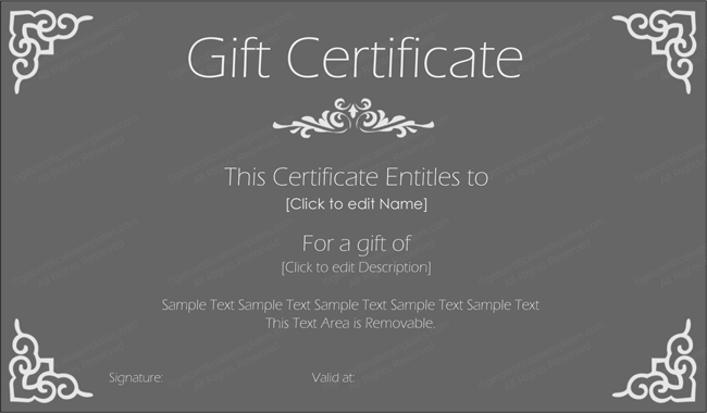 Mother's Day & Father's Gift Certificate Template (Stylish, Printable Gift Card Template)