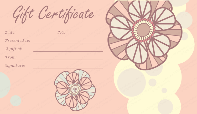 Mother's Day & Father's Gift Certificate Template (Tea Pink, Printable and Editable)