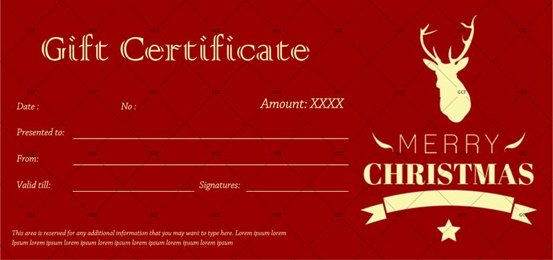 Printable Christmas-Gift-Certificate in WORD