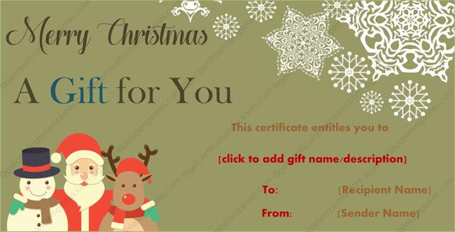 Santa-Christmas-Gift-Certificate (Gift Certificate from Santa)
