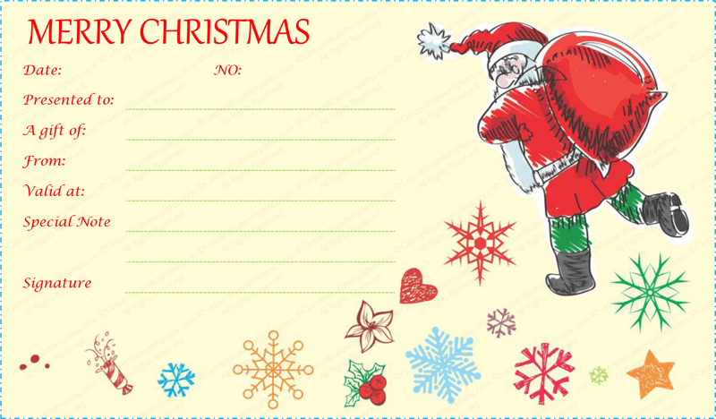 Santa-With-Gift-Bag-Gift-Certificate (Gift Certificate from Santa)
