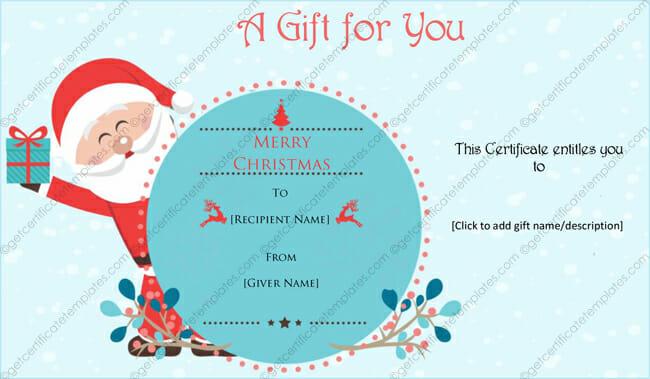 SantaClaus-Gift-Certificate-Template (Christmas Gift Certificate Idea)