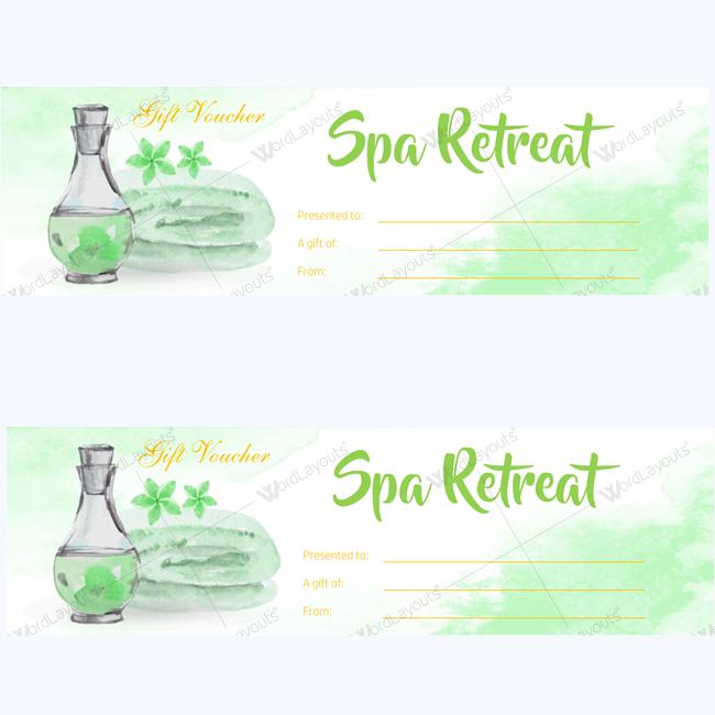 Spa Gift Certificate 13 (beauty voucher template)