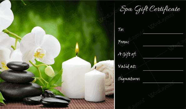 Spa Gift Certificate 18 (gift voucher design)