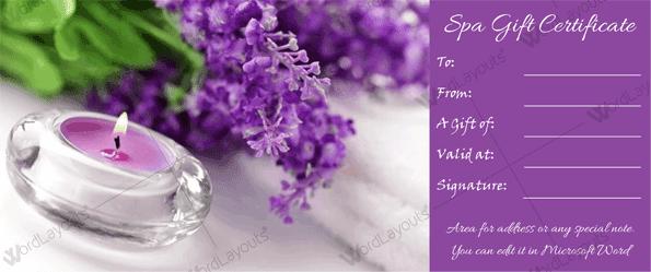 Spa Gift Certificate 20 (gift voucher)