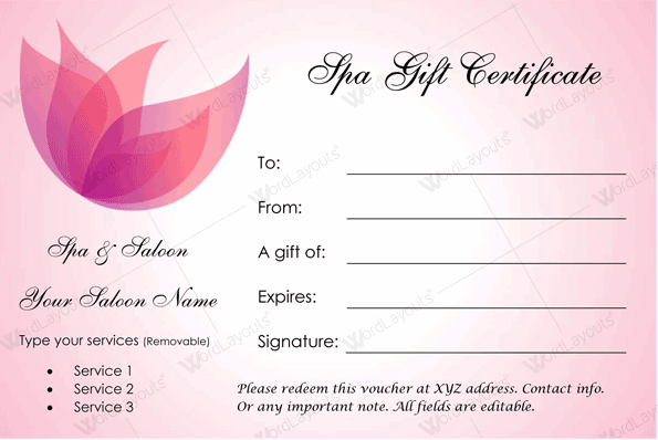 Template For Gift Certificate For Services from images.docformats.com