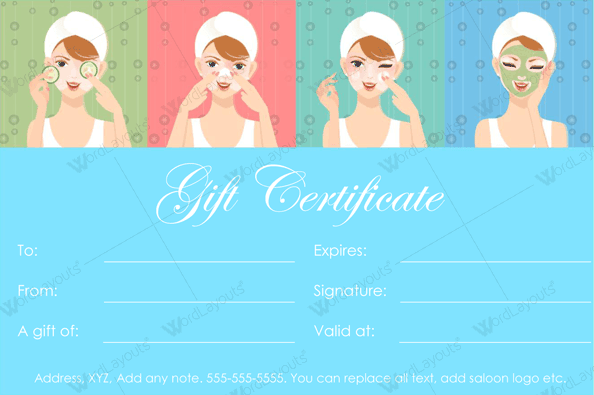 Spa Gift Certificate 25 (beauty voucher template in Word)