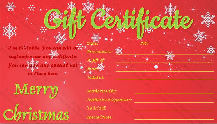 Twinkles-Christmas-Gift-Certificate (Editable Christmas Gift Certificate)
