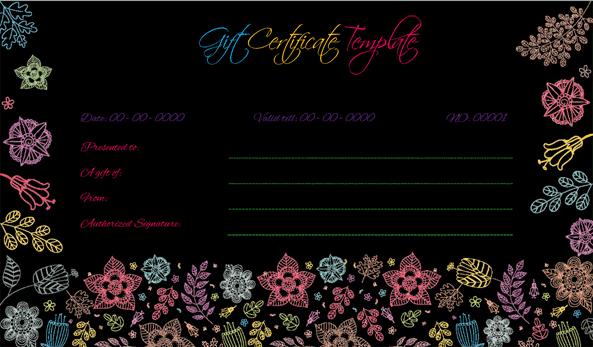 Wedding Gift Certificate (BLK, Customizable Gift Voucher)
