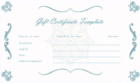 Wedding Gift Certificate (BLUE, Printable Gift Voucher)