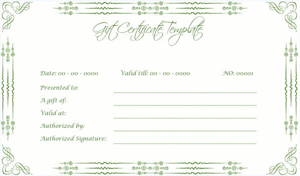 Wedding Gift Certificate (GRN, Voucher Design for Word)
