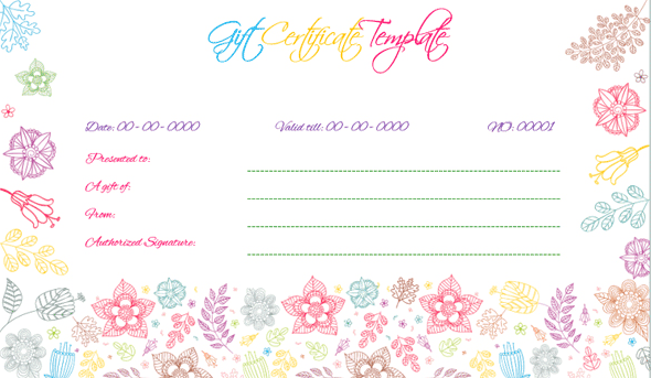 Wedding Gift Certificate (MUL, Gift Voucher Design for Word)