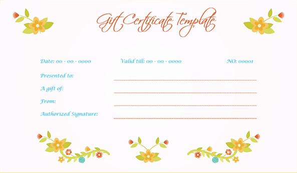 Wedding Gift Certificate (Peach, Printable Gift Voucher)