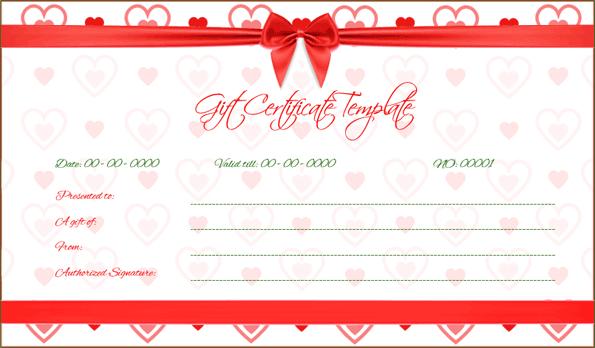 Wedding Gift Certificate (Ribbon, Voucher Design for Word)