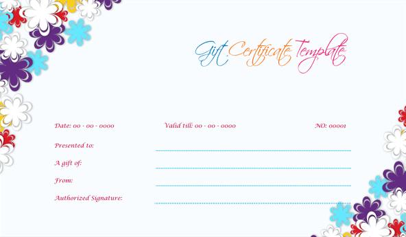 Wedding Gift Certificate (Sky, Professional Gift Voucher)