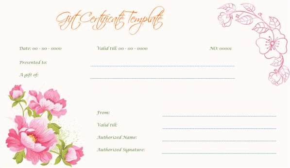 Wedding Gift Certificate (Vintage, Customizable Gift Voucher)