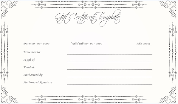 Wedding Gift certificate (BLK, Printable Gift Voucher)