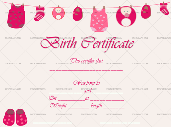 10 Birth Certificate Template Boots Editable Certificate #4361