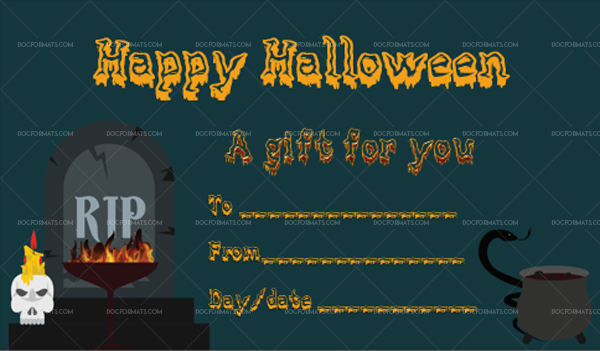 11 Halloween Gift Certificate RIP Editable Gift Voucher #1033