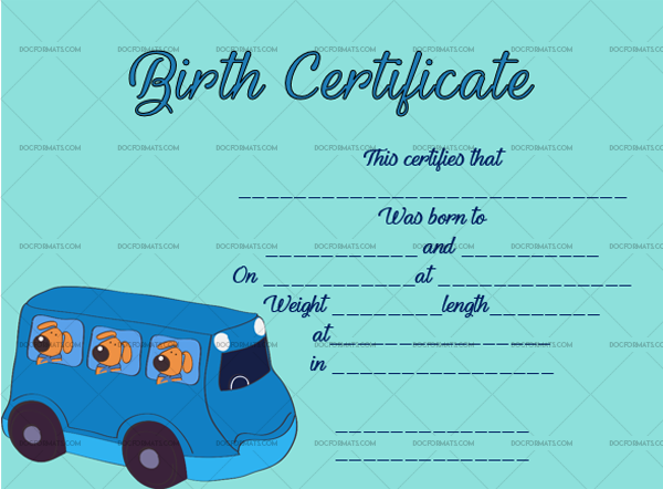 15 Birth Certificate Template Bus Blank Template #4346