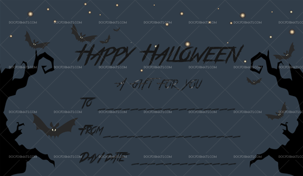 16 Halloween Gift Certificate Scary Night Printable and Editable #1038