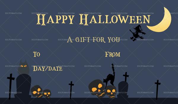 17 Halloween Gift Certificate Stars Printable Gift Voucher #1039