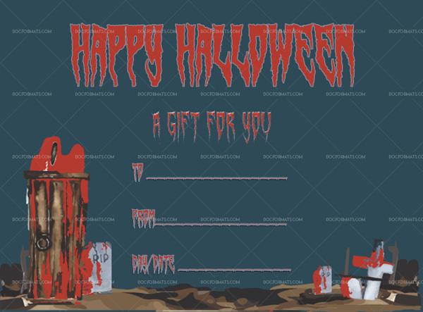 30 Halloween Gift Certificate Terror Printable Gift Voucher #1052