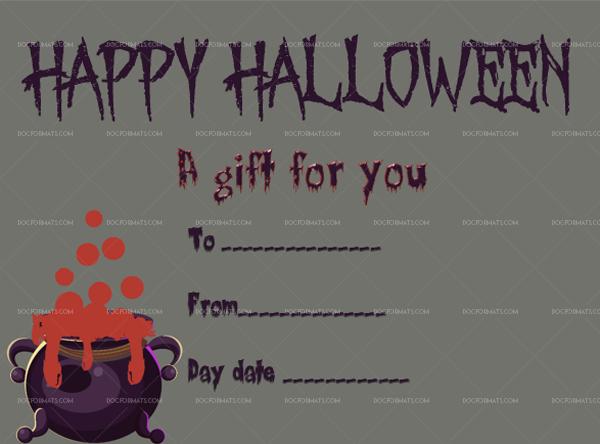 31 Halloween Gift Certificate Truth Lies Editable Gift Voucher #1053