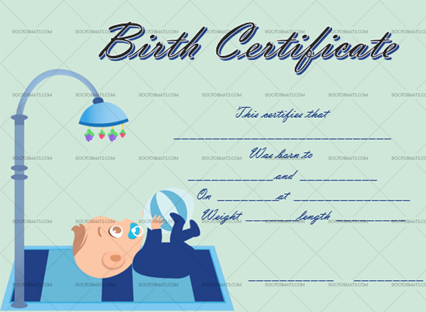 4 Birth Certificate Template Playing Blank Design #4335