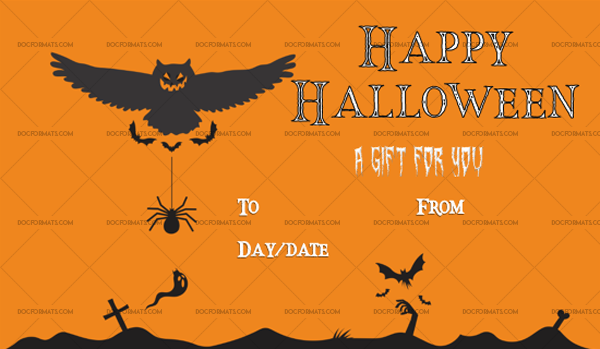 41 Halloween Gift Certificate Beast Customize in Word #1063