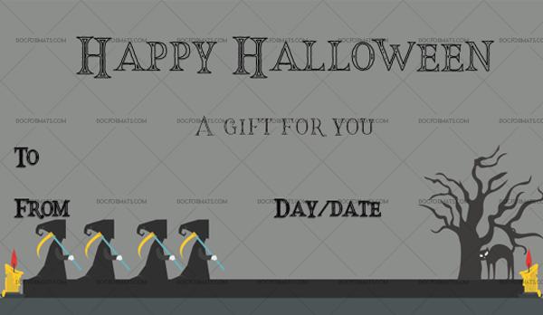 44 Halloween Gift Certificate Grim Printable Gift Voucher #1066