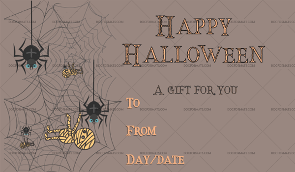 45 Halloween Gift Certificate codweb Editable Gift Voucher #1067
