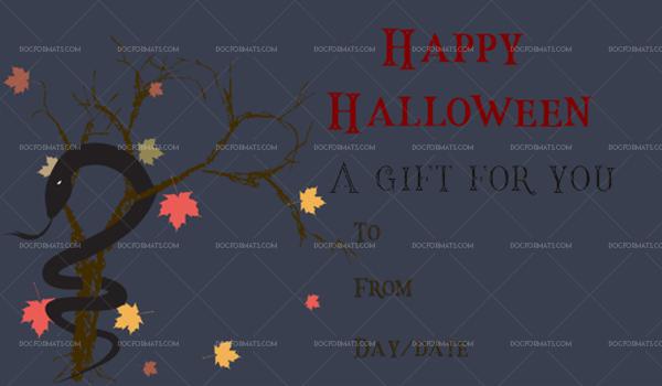 51 Halloween Gift Certificate Snake Printable Gift Voucher #1073