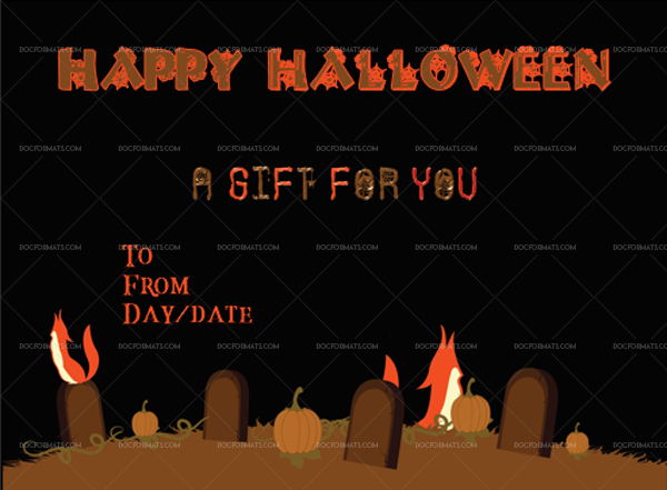 8 Halloween Gift Certificate Fox Printable Gift Voucher #1030