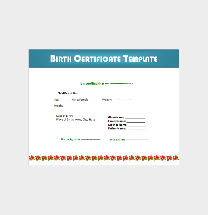Free Birth Certificate Template–in Microsoft Word 05