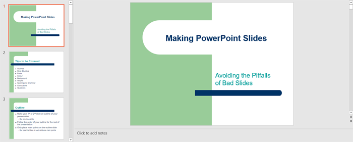 How to Create Presentation Outline (PowerPoint Slide)