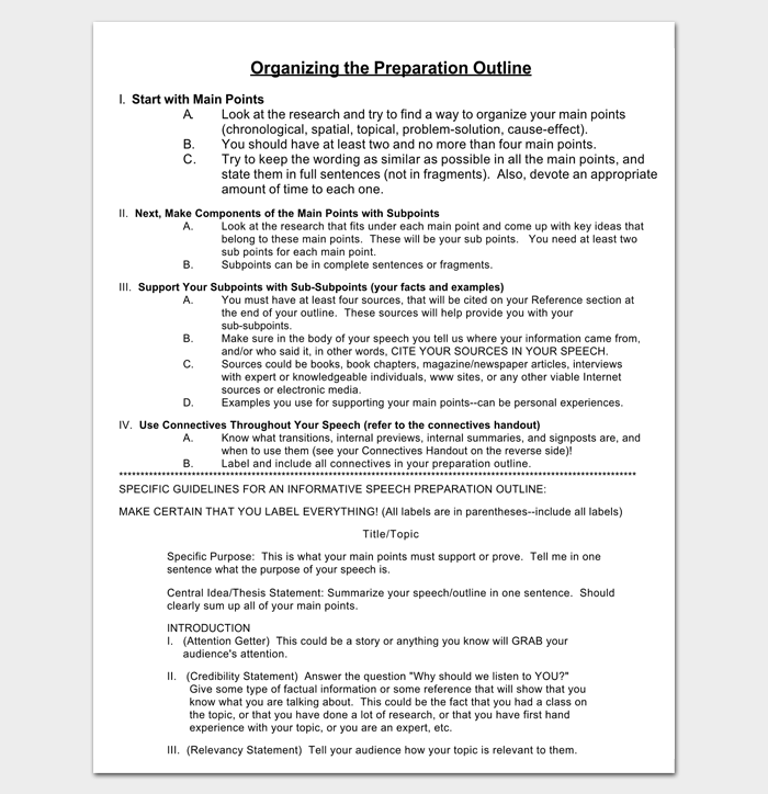 Informative Presentation Outline for PDF 1