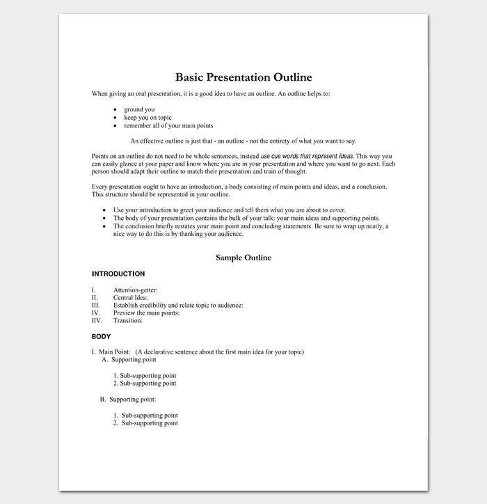 Presentation Outline Sample for PDF 1