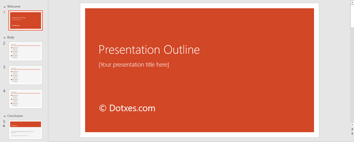 Presentation Outline Template for PowerPoint