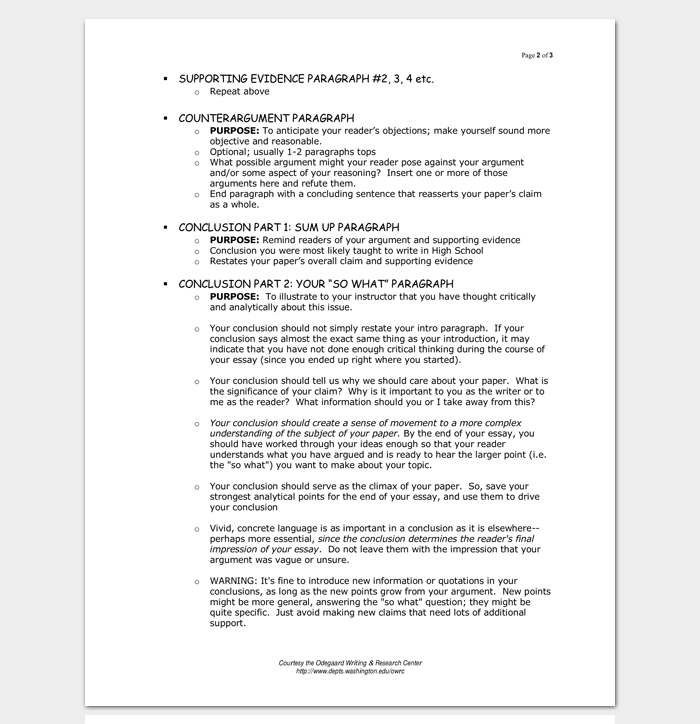Sample Essay Writing Outline